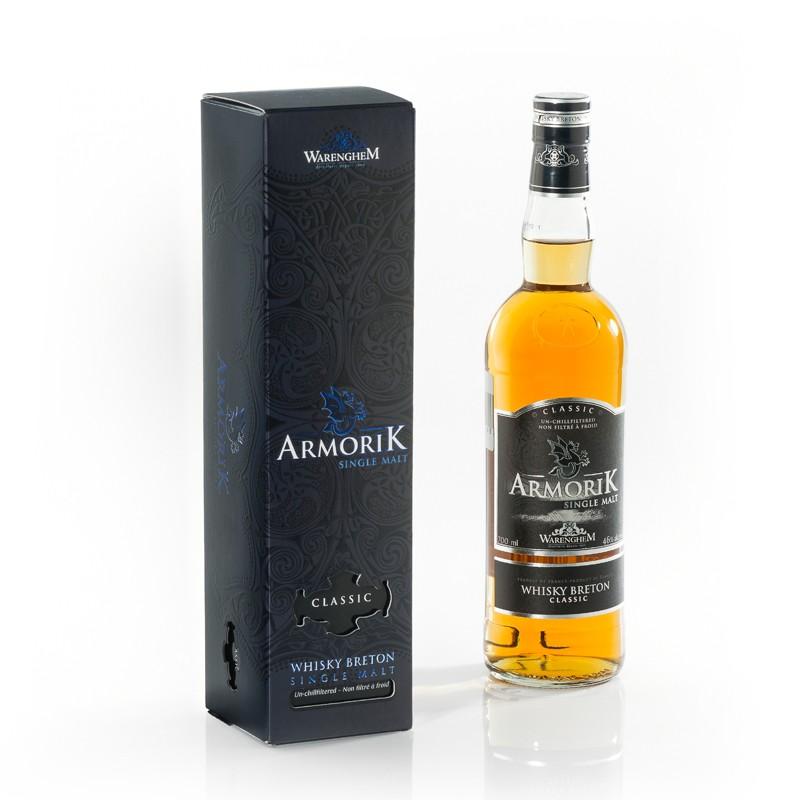 Etui haut de gamme pour bouteille de whisky Armorik