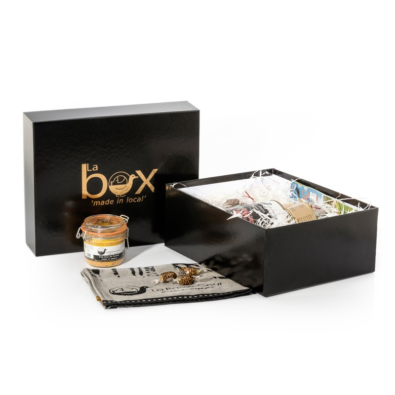 """Coffret pour produits alimentaires """"Made in local"""""""
