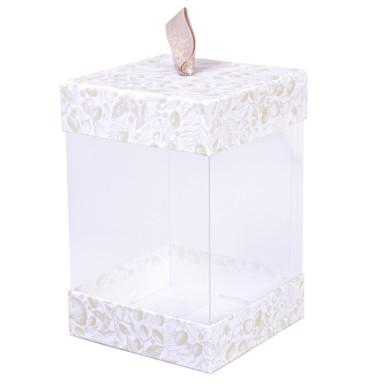 Coffret cube transparent pour cosmétique