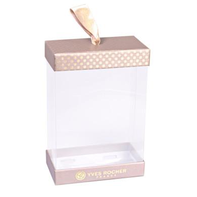 Coffret transparent rectangle pour produits de beauté