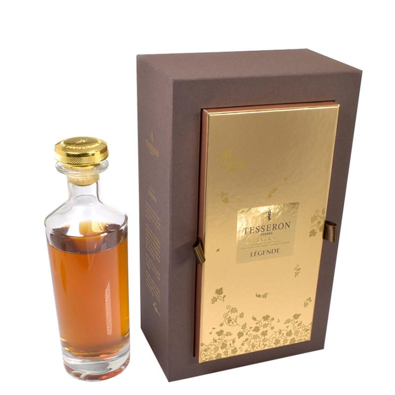 coffret pour bouteille de cognac