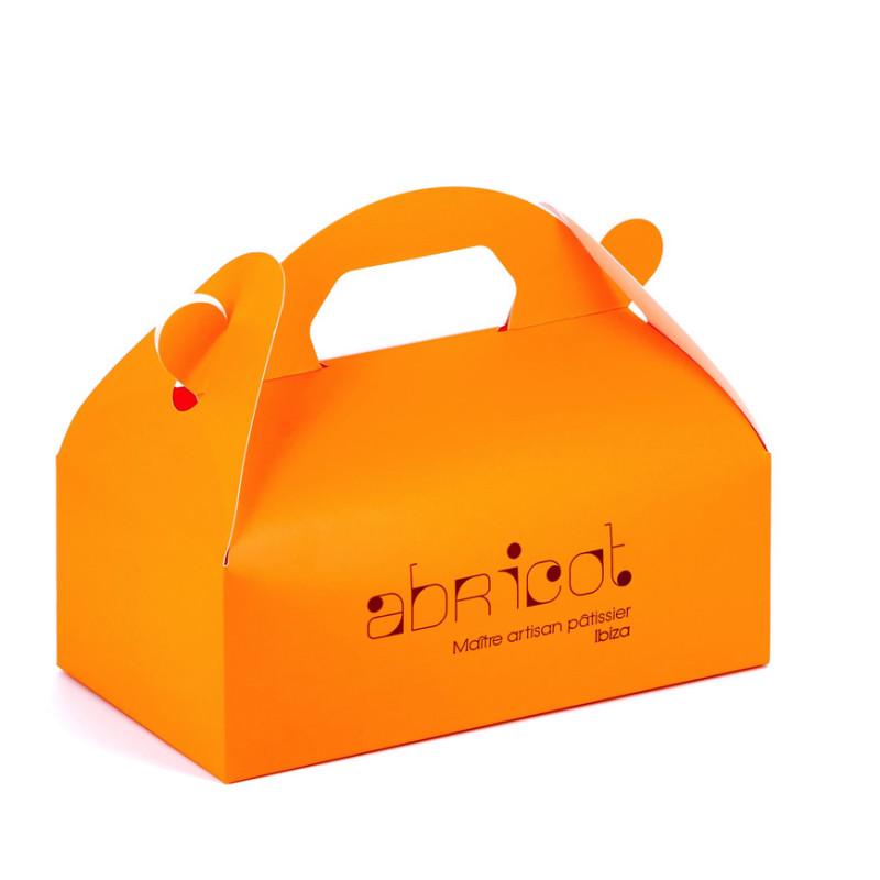 boîte poignée abricot