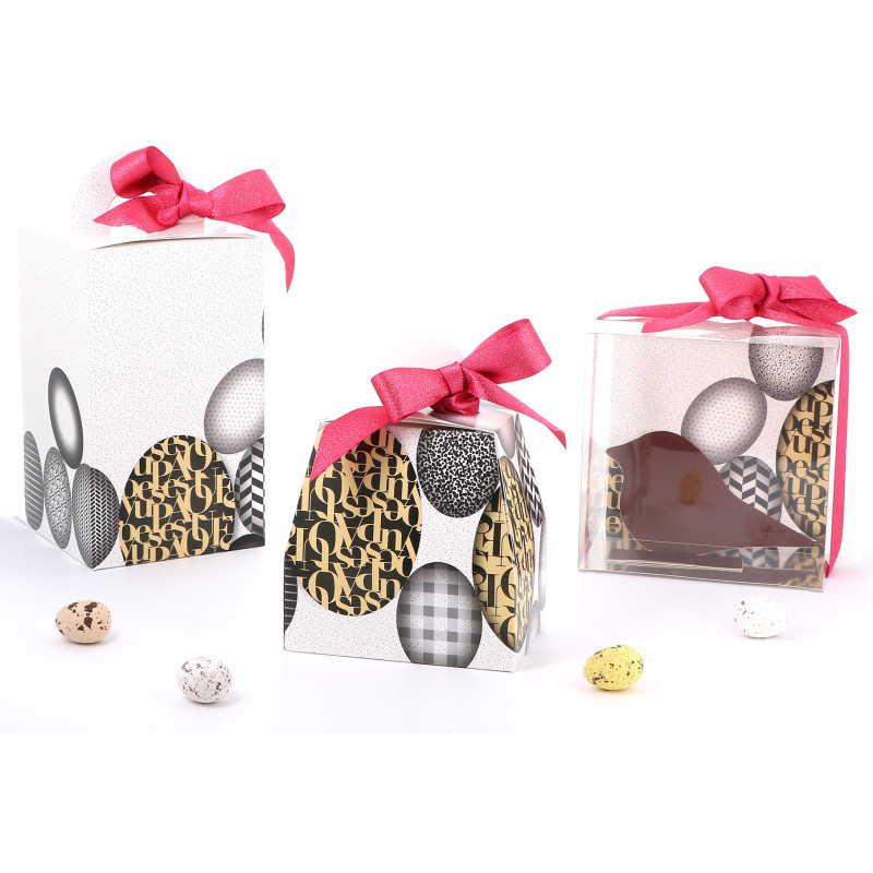 Emballages de Pâques- Boîte Oeuf - Oeuf d'or