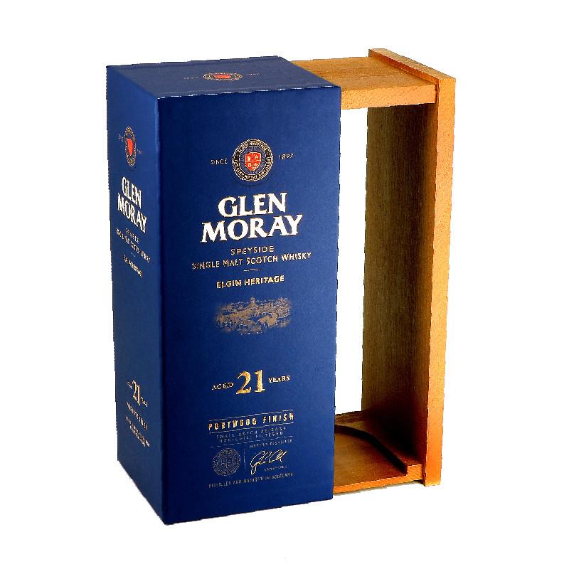 Coffret Glen Moray carton bois
